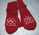 Youth Size Vancouver Olympic Red Mittens