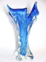 Electric Blue Art Glass Vase