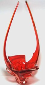 Deep Red Art Glass