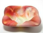 Orange Slag Glass Ashtray