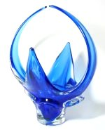Blue Art Glass Arched