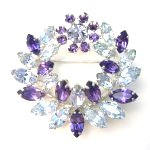 Purple and Blue Brooch