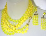 Yellow Plastic Necklace