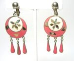 Pink Alpaca Earrings