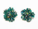 Sherman Green Crystal Earrings