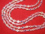 Vintage AB Crystal Necklace 2 Strand