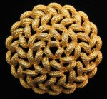Vintage Monet Basket Weave Brooch