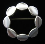 Monet Modernist Brooch