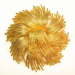 Vintage Monet Brooch Gold Tone