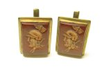 Woolno Cameo Cufflinks Greek Soldier