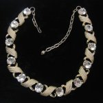 Vintage Rhinestone Necklace Goldtone