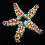 KJL Kenneth Jay Lane Starfish Brooch