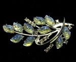 Molded Glass Brooch