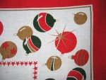 Vintage Christmas Ornaments Tablecloth