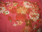 Floral Raspberry Pink Linen Tablecloth