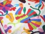 Mexican Otomi Hand Embroidered Tablecloth