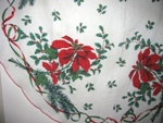 Wild Poinsettias Christmas Tablecloth