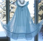 Sky Blue Chiffon Nightgown