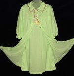 Vintage Lime Green Peignoir Babydoll Set