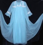 Vintage Lov'Lee Blue Chiffon Peignoir
