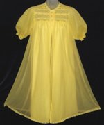 Yellow French Maid Chiffon Peignoir