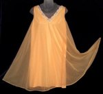 Vintage French Maid Peach Nightgown
