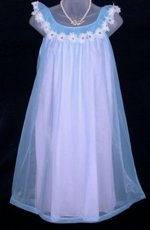 Vanity Fair Pink Blue Daisy Nightgown