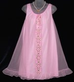 Lov'Lee Pink Babydoll Peignoir