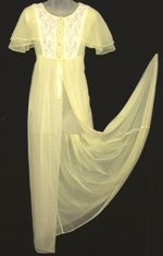 Lov'Lee Yellow Peignoir Butterfly Sleeves