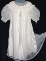 Vintage Dorsay Crystal Pleat Peignoir