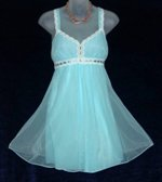 Crystal Pleat Blue Babydoll