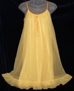 Tangerine Orange Ruffled Nightgown