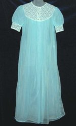 LovLee Baby Blue Double Chiffon Peignoir