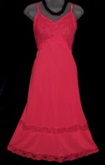 Kayser Red Double Lace Slip