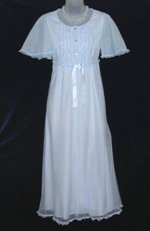 Vintage Blue Chiffon Nightgown
