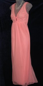 Lov'Lee Chiffon Peach Nylon Nightgown