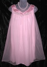 Sears Roebuck Pink Chiffon Nightgown