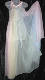 Multicolor  Chiffon Nightgown